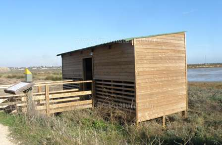 One of the new bird hides at Ria Formosa Nature Reserve
